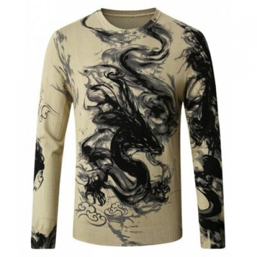 Chinese Dragon Ink-wash Painting Printing Sweater